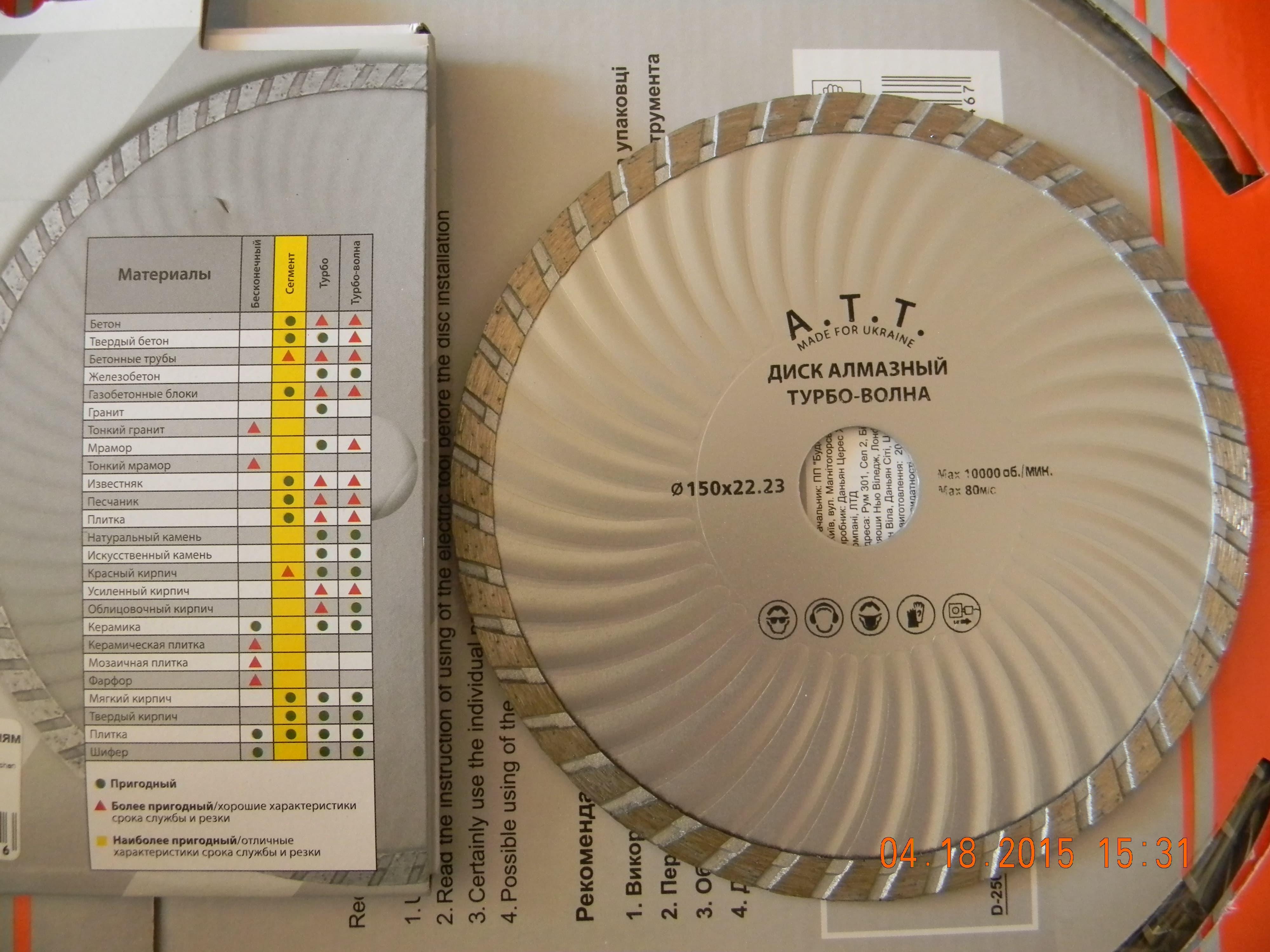 диск 150 турбоволна борозд