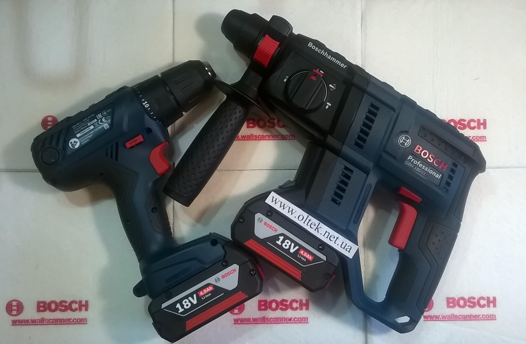 BOSCH-GBH-180-LI+GSR-180-LI